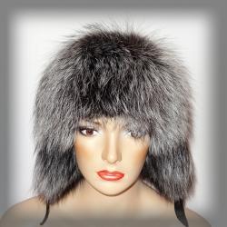 Купить Женская меховая ушанка из чернобурки Краматорск цена 6d9a44771afd8