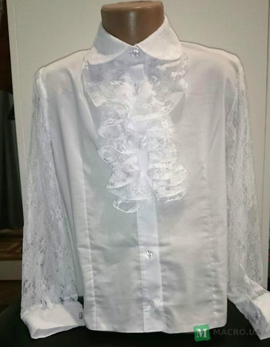 Блузка С Жабо Для Девочки Купить В