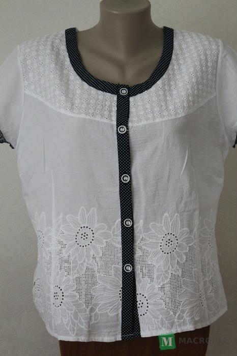 Купить Блузка женская белая с кокеткой Хмельницкий цена 15eace1f09a7a