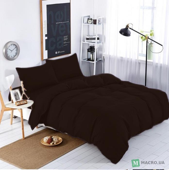 Купить Подростковый комплект постельного белья Коричневый Премиум ... 0339ae721ae99